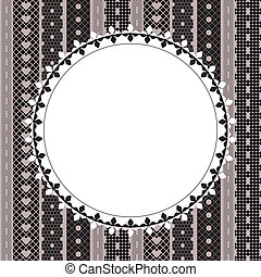Elegant doily on lace background for scrapbooks