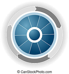 Corporate Business Wheel - An image of a blue corporate...