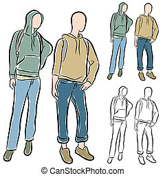 Students Wearing Hoodies - An image of a students wearing...
