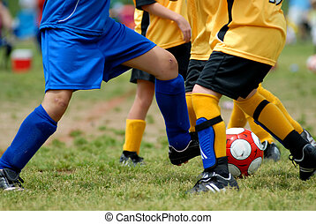 Girls competing in Soccer