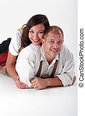 cuddly prospects - Bavarian young lovers cuddling