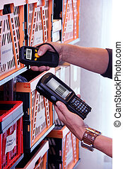 Barcode Scanner - Handheld Computer for barcode scanning...