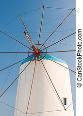 Windmill on Greek island in the Aegean Sea