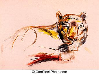 tiger kopf gem lde stockfoto bilder 616 tiger kopf gem lde lizenzfreie bilder und fotos zum. Black Bedroom Furniture Sets. Home Design Ideas