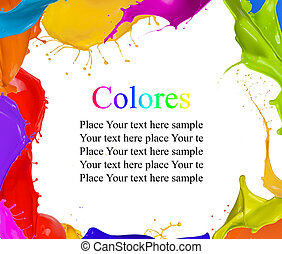 Colored splashes background with free space for text