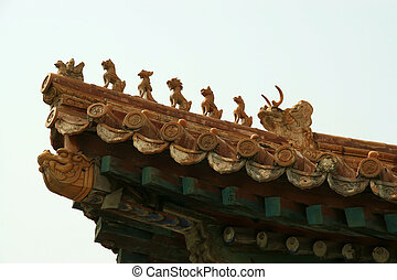 corner eaves of ancient buildings in china