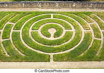 Chartres - Labyrinth - Chartres Eure-et-Loir, Centre, France...