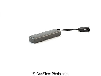 USB flash card . Isolated. - USB flash card . Isolated over...