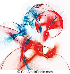 Abstract art colour backdrop.Vector