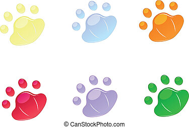 backgrounds for icons in pad shape - set of vector...
