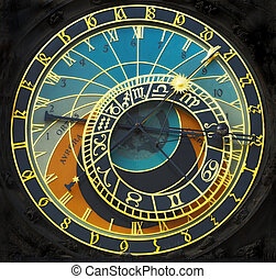Astronomical clock - Old astronomical clock in the center...