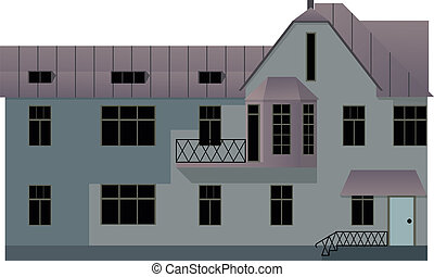 house - vector illustration of house isolated on white...