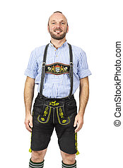 Bavarian tradition - An image of a traditional bavarian man