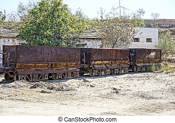Old facilities freight wagon.