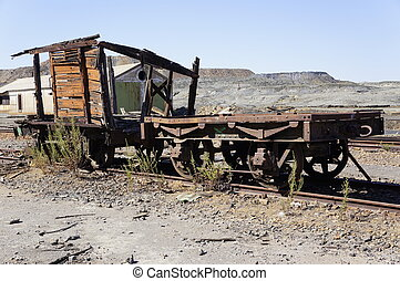Old train wagon - Historic wagon in mines Tharsis - former...
