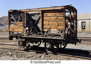 Abandoned wagon of Spain - Abandoned facilities freight cars...