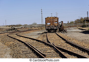 Abandoned train of Spain - Old facilities freight cars Old...