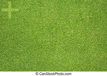 Plus icon on green grass background