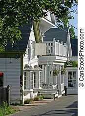 New England store - A quaint New England storefront in...