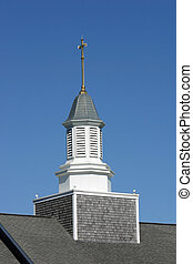 Church Spire - A pretty church spired located on Cape Cod