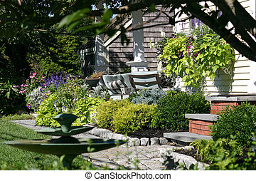 Front Yard - The front yard of a quaint cottage in...