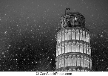 Architecture of Pisa in Tuscany