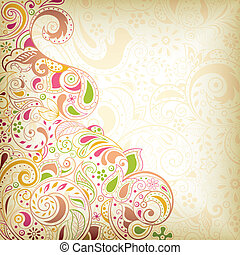 Abstract Floral Curve