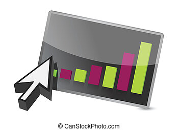 colorful business graph and cursor