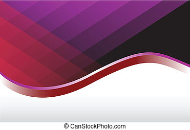 Modern red and purple wave background illustration