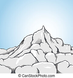 Rock Mountain - Vector illustration of a rocky mountain
