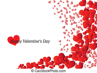 Beautiful Valentine's Day card with scattered hearts