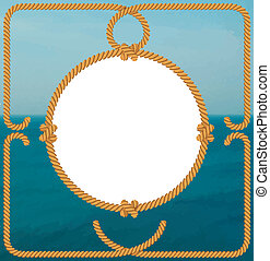 海, 框架, 繩子