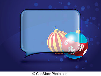 Christmas card with speech bubble