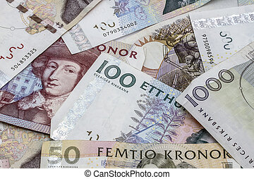 Swedish Currency - Different Swedish currency background