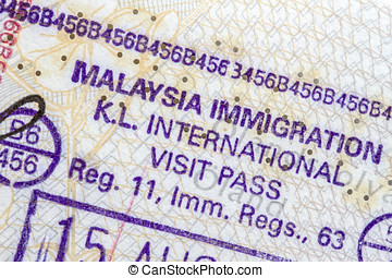 Malaysia Immigration Stamp
