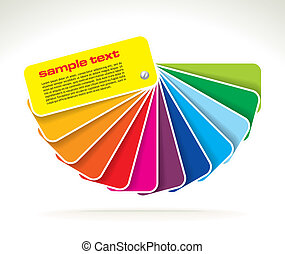 vector colour guide - colour guide with sample text- vector...