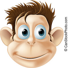 Smiling monkey illustration - An illustration of a cute...