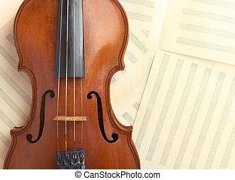 violin background - old violin background