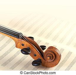 violín, cuello, Plano de fondo
