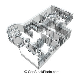 3d sketch apartment