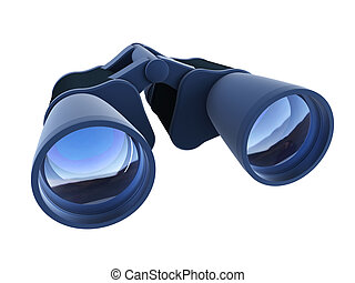 isolated binoculars - 3d rendering binoculars isolated on...