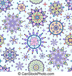 different colorful snowflakes