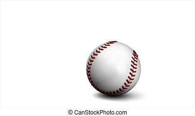 Baseball animation, ball over white