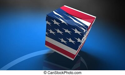 Ballot box US election - Concept animation ballot box