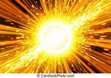 Abstract scientific background - big exploding in space, big...
