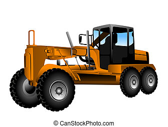 Motor Grader with Clipping Path