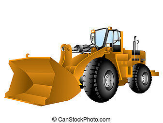 Wheel Loader with Clipping Path