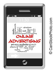 Online Adversiting Word Cloud Concept on Touchscreen Phone