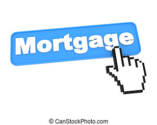 Mortgage Web Button. - Web Button - Mortgage. Isolated on...