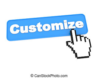 Customize - Web Button. Isolated on White Background.